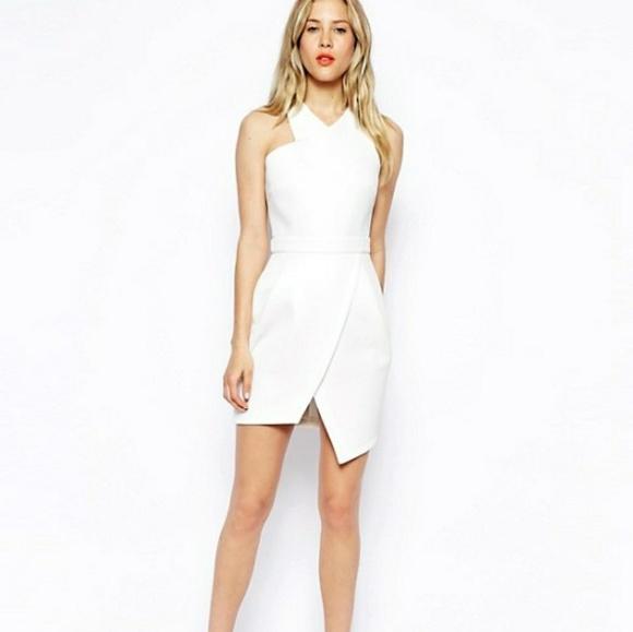 dress white asymmetric
